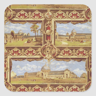 Views of the International Exhibition, 1862, Wallp Square Sticker