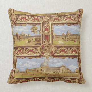 Views of the International Exhibition, 1862, Wallp Throw Pillow