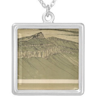 Views of the Marble Canyon Platform Silver Plated Necklace