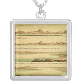 Views of the Port of San Julian, Patagonia Square Pendant Necklace