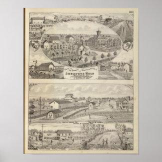 Views of the residence Josephus Wolf Poster