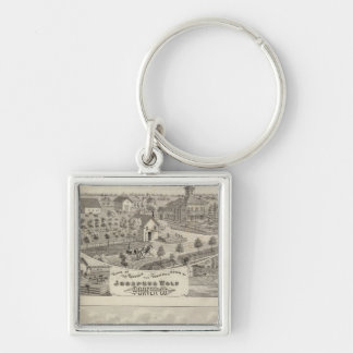 Views of the residence Josephus Wolf Silver-Colored Square Keychain