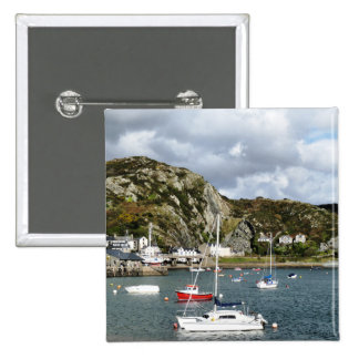 VIEWS OF WALES 2 INCH SQUARE BUTTON