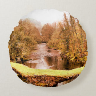 VIEWS OF WALES ROUND PILLOW