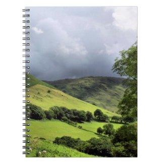 VIEWS OF WALES UK notebook