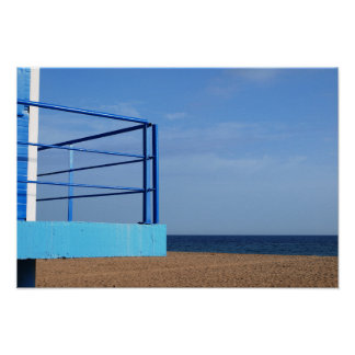 Views to the sea. House of person who renders Poster