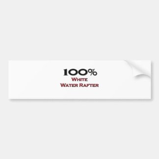 Viga del agua blanca del 100 por ciento pegatina de parachoque