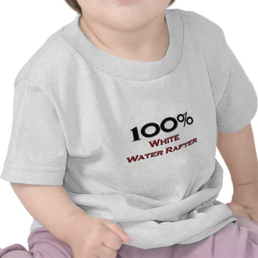 Viga del agua blanca del 100 por ciento camiseta