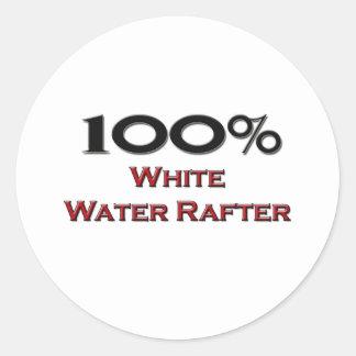 Viga del agua blanca del 100 por ciento pegatina redonda