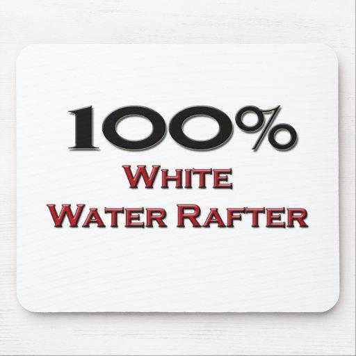 Viga del agua blanca del 100 por ciento tapete de ratón