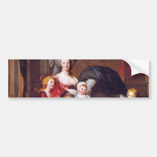 Vigée-Lebrun - Marie Antoinette and her children Bumper Sticker