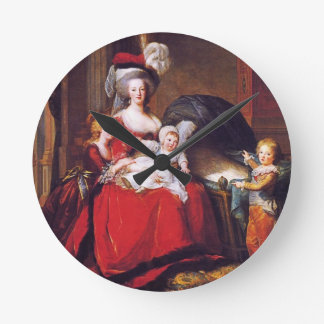 Vigée-Lebrun - Marie Antoinette and her children Round Wallclock