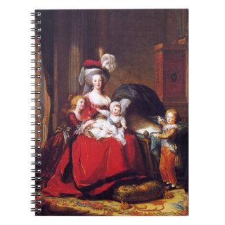 Vigée-Lebrun - Marie Antoinette and her children Spiral Note Book