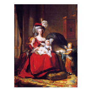 Vigée-Lebrun - Marie Antoinette and her children Postcard
