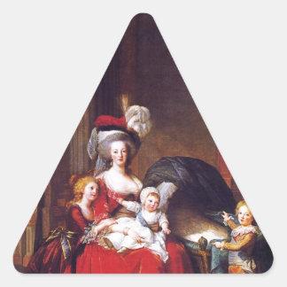 Vigée-Lebrun - Marie Antoinette and her children Triangle Sticker