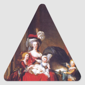 Vigée-Lebrun - Marie Antoinette and her children Triangle Sticker