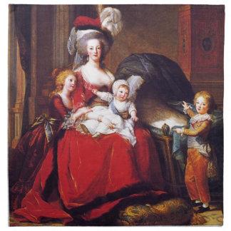 Vigée-Lebrun - Marie Antonieta y sus niños Servilleta De Papel