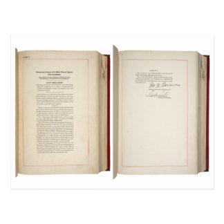 Vigésima constitución de los E E U U de la enmien Tarjetas Postales