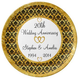 Vigésima placa personalizada de la porcelana del platos de cerámica