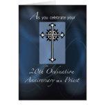 vigésimo Aniversario de la ordenación del sacerdot Tarjetón