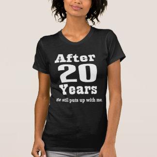 vigésimo Aniversario (divertido) Camisetas