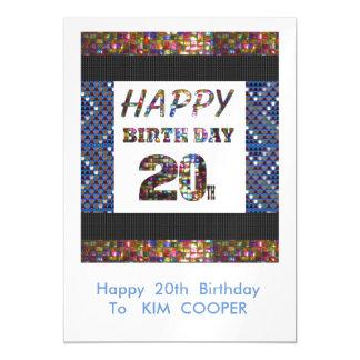 Vigésimo cambio del cumpleaños o msg felices 20 invitaciones magnéticas