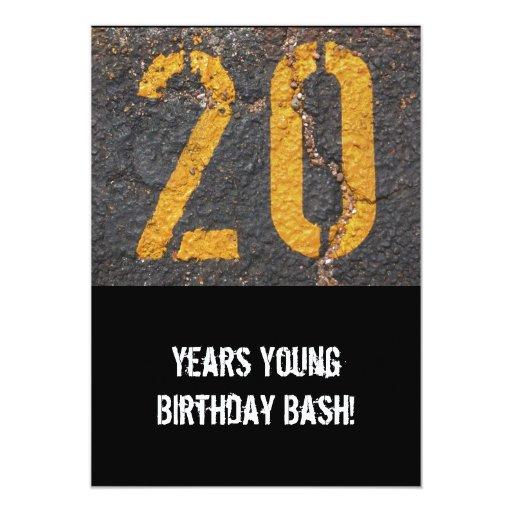 vigésimo Cumpleaños-Invitación