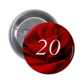 vigésimo Cumpleaños Pin Redondo 5 Cm