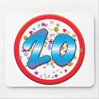 vigésimo Cumpleaños Alfombrilla De Ratones