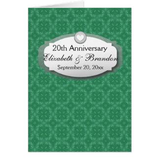 vigésimo Diamante Z07 del aniversario de boda del Tarjeta Pequeña