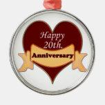 Vigésimo feliz. Aniversario Adornos
