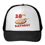 vigésimo Fiesta de la pizza del cumpleaños Gorro