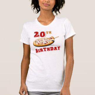 vigésimo Fiesta de la pizza del cumpleaños Camisetas