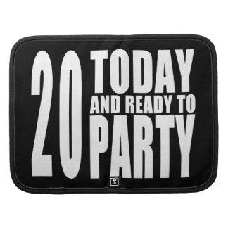 vigésimo Fiestas de cumpleaños: 20 hoy y aliste Planificadores