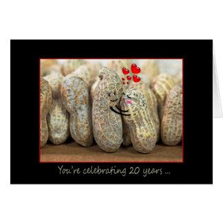 vigésimo Nueces del aniversario Tarjeta De Felicitación