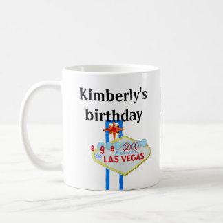 Vigésimo primer cumpleaños en Las Vegas Taza Clásica