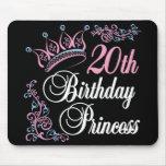 vigésimo Princesa del cumpleaños Alfombrilla De Raton