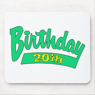 vigésimo Regalos de cumpleaños Tapetes De Ratón