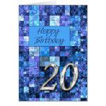 vigésimo Tarjeta de cumpleaños con los cuadrados a