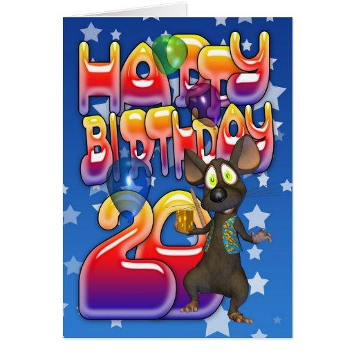 vigésimo Tarjeta de cumpleaños, feliz cumpleaños