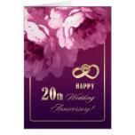vigésimo Tarjetas de felicitación del aniversario