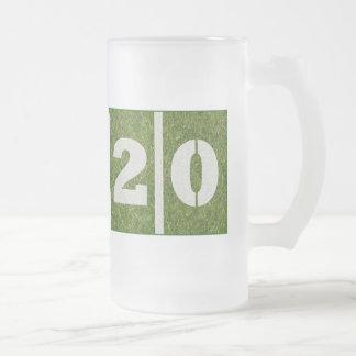 vigésimo Taza del vidrio del cumpleaños