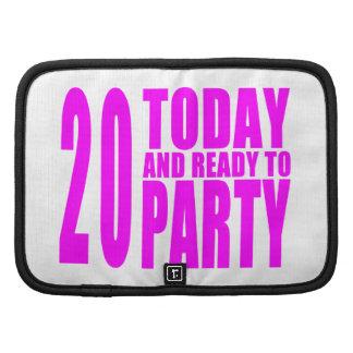 Vigésimos cumpleaños de los chicas: 20 hoy y planificadores