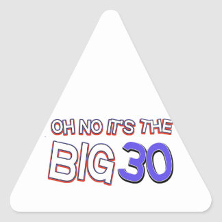 vigésimos diseños del cumpleaños pegatina triangular