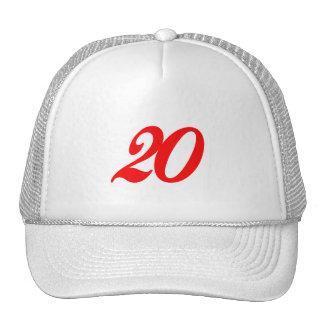 Vigésimos regalos de cumpleaños del número veinte gorra