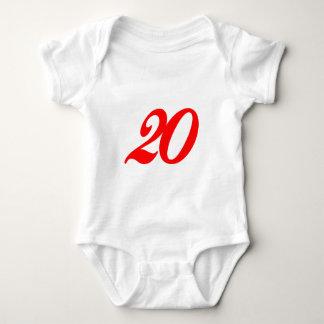Vigésimos regalos de cumpleaños del número veinte playera