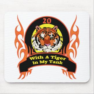 Vigésimos regalos de cumpleaños del tigre tapete de ratón