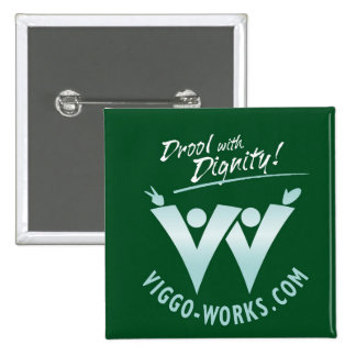 Viggo-Works Waving Fans Logo 2 Inch Square Button