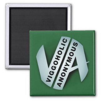 Viggoholic Anonymous green 2 Inch Square Magnet