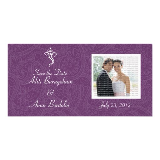 Vighneshvara Wedding Save the Date Photo Cards